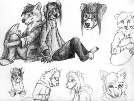 Mizuthefluff Doodle Page by Octobertiger