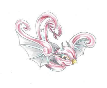 Devil Swallow Colour Tattoo by 2Face-Tattoo