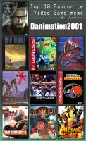 Danimation's top 10 favorite videogames by danimation2001