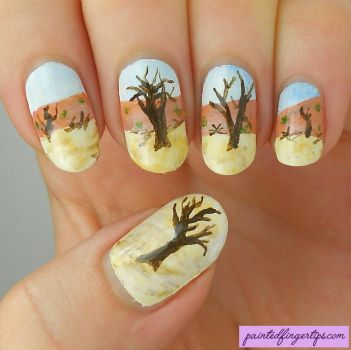 Namibia-nail-art by Painted-Fingertips
