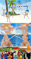 Felicia's Extreme Beach Catwoman Volleyball by NekoHybrid