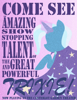 Great and Powerful Trixie Poster by aquamarinedesign