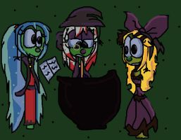 Trick and Treat Veggie Tales by PowderPuffBunny