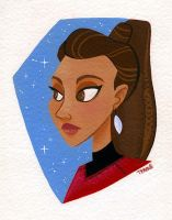Uhura painting by TRAVALE