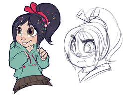 Venellope Doodles by strawberryneko33