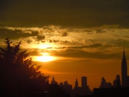An Early June Sunset In New York City II by Brooklyn47