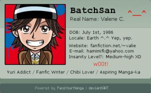 Yay, a new Deviant ID by BatchSan