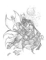 Medieval Batman commish by JoeyVazquez