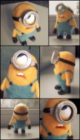 needle felted minion by Darthpolly