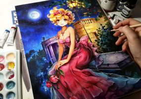 Golden Night by Naschi