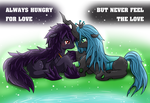 (Dream)Loveless and Queen Chrysalis by vavacung