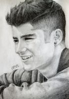 One Direction Drawing - Zayn Malik :D by val1drawing