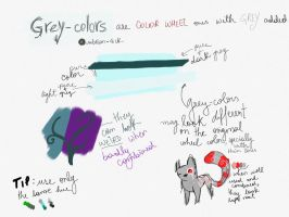 Notes on grey-colors and pallets by umbreon-rock