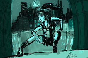 Sailor Jupiter Over the City Scape by AnnaKlava