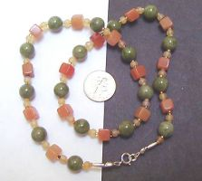 Peas'n'carrots necklace by wombat1138