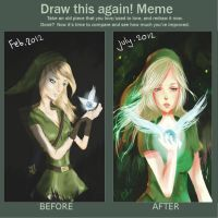 draw this again meme -female link by kittysophie