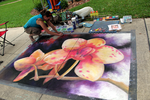 Chalk Art Spring Orchid finishing by charfade