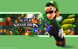 Luigi Wallpaper - Super Smash Bros. Wii U/3DS by AlexTHF