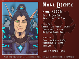 Redor Mage License by kyoht