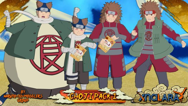 Naruto - Choji Akimichi PACK 1 FOR XPS by ASideOfChidori