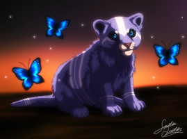 Blue Butterfly by TheMysticWolf