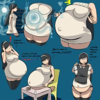 Commission: Preggo Maya pg1 by Metalforever