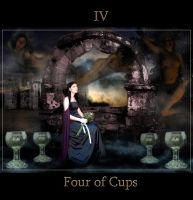 Four of Cups by Vinyariel