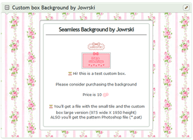 Sweet Roses Custom box Background+(*.pat)pattern by Jowrski
