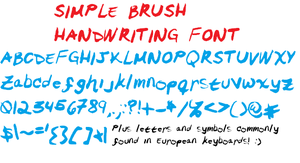 Simple Brush Handwriting Font by misspepita