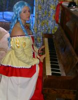 Lady Evelyn on the Piano by Abyssal-Myst