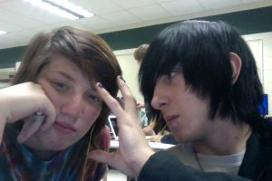Me and my fiance in class by DarkendDrummer