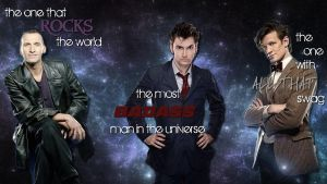 The 9th, 10th and 11th- Doctor Who by Brown-Eyed-Rocker