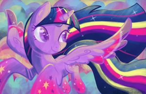 Twilight Sparkle Rainbow Power by GhostlyMuse