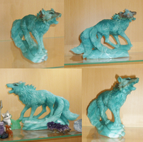 Amazonite fox carving: Pics by goiku