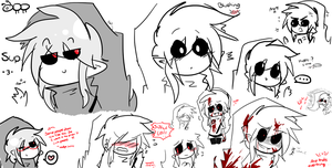 Some Doodles of BEN (cuteee) by Menathehedgehog