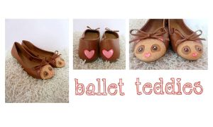 Brown Bear Ballet Flats by ponychops