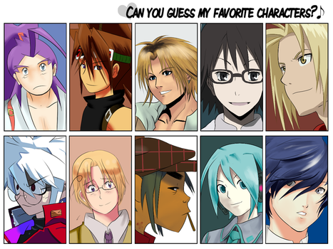My Favorite Characters by witch-girl-pilar