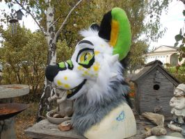 Vix fursuit head trade VIDEO by Velveteensoldier