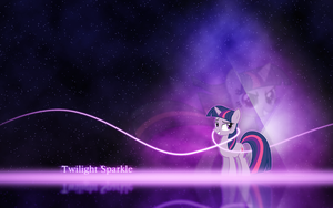 Twilight Sparkle Desktop Wallpaper Tiny Version by Flaedr