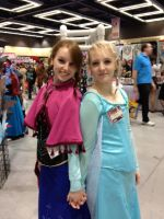 Elsa and Anna of Arendelle by WarriorNun