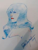 Zatanna Expocomic Madrid sketch by elena-casagrande