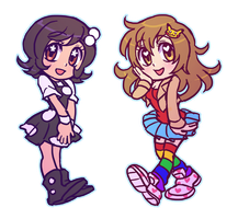 Tina and Drea by SonicRocksMySocks