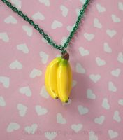 Bananas Necklace by CantankerousCupcake