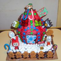 Hello Kitty Christmas Cake by ToughSpirit