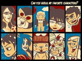 Favorite Characters by StevenRayBrown