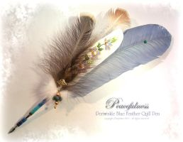 PEACEFULNESS Feather Quill Pen by ChaeyAhne