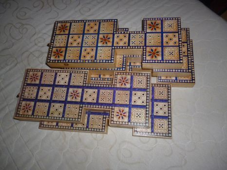 Royal tomb game of Ur - old and new boards by Skiryuk