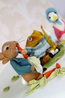Beatrix Potter Characters - Cake Toppers by zoesfancycakes
