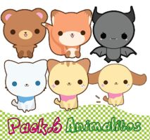 "Pack.6 PNG ""Animalitos"" by MayruuGomez"