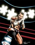 CM Punk 'Go To Sleep' Color by whatwouldjoshdo
